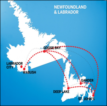 Air Canada Flight Status Map Evasair Charters: Air Canada Express